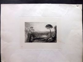 Anon C1860 LG Folio Antique Print. Italianate Landscape